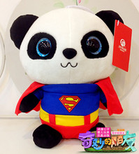 Genuine hug Giant panda big eyes doll plush toy gift souvenir panda de brinquedo Brinquedos Teddy Bear Bat man Spider man panda(China)