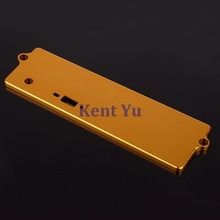 Golden Aluminum Battery Case Top Cover 02111 122064 102064 For 1/10 RC Car HSP Redcat Himoto(China)
