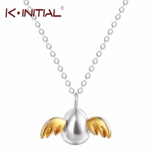Kinitial 925 Sterling Silver Angel Egg Necklaces & Pendants Angle Wing Necklace For Women Cute Girl Sterling-silver-jewelry