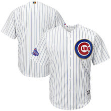 MLB Men's Chicago Cubs Baseball Fashion White/Gold 2017 Gold Program Cool Base Team Replica Jersey(China)