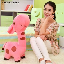 large 65cm cartoon pink giraffe plush toy soft doll throw pillow Valentine's Day gift w2678(China)