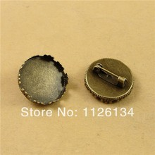 A3096 Wholesale Jewelry Alloy Antique Bronze Crown Brooch Bezels Copper Tray 20 MM