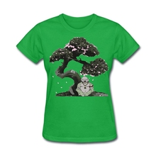 Geek Ladies Buddha T Shirt Cotton Classical Round Neck Summer Clothing  Printed With Healthy Ink