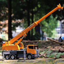 siku 1:87 Alloy car model Engineering car series crane Lifting truck Metal Material Good texture kids toys worth collecting