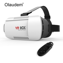 Google Cardboard Virtual Reality 3D Glasses VR Box 2.0 Accessory Bundles + Bluetooth 3.0 Remote Controller VR118(China)