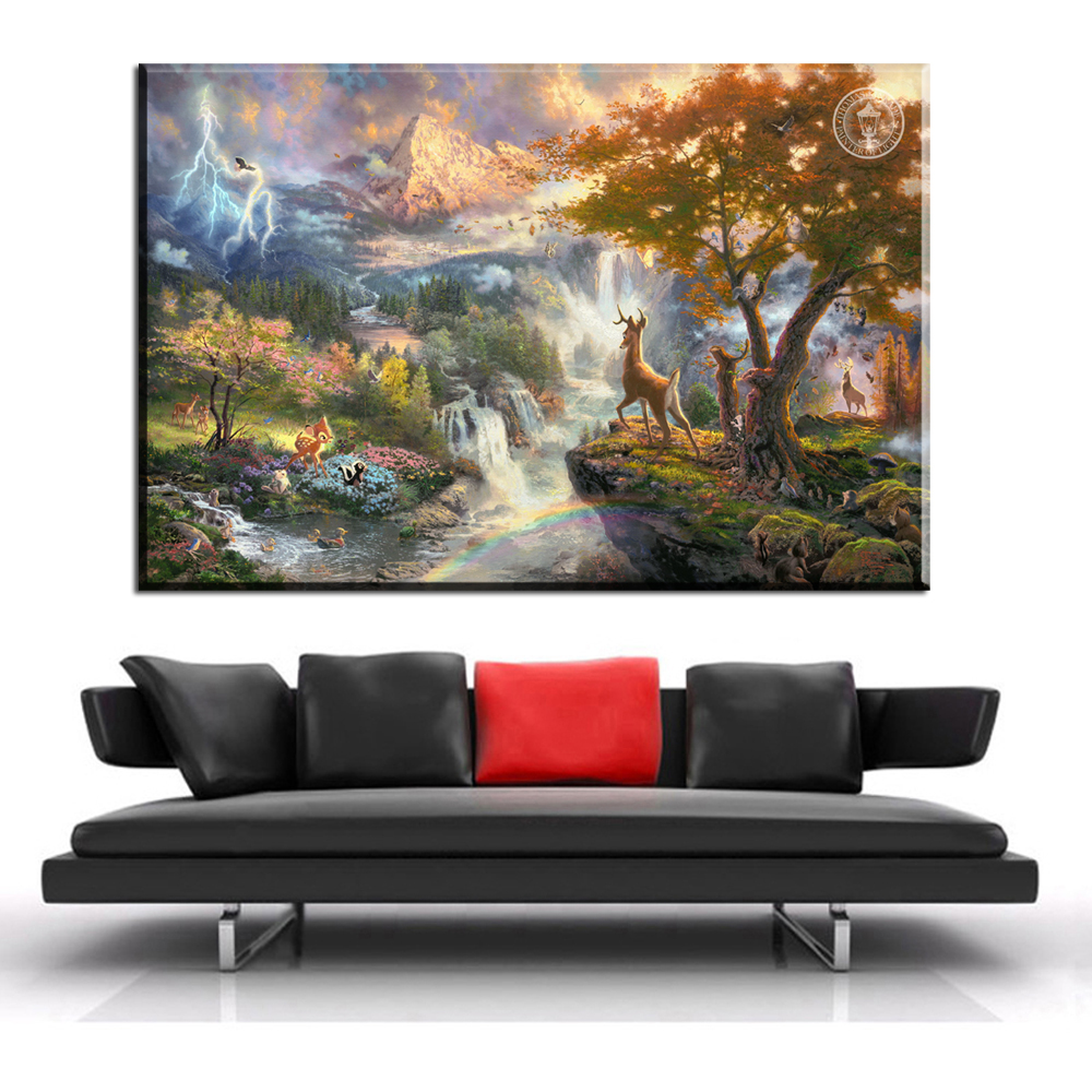 xh1290 thomas kinkade painter of light quality paintings home decoration canvas prints art unframed(China (Mainland))