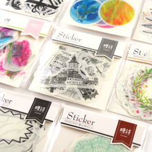 Creative Cute Colored Retro Past Mini Sticker Planet Decoration Diy Ablum Diary Scrapbooking Label Sticker Kawaii Stationery(China)