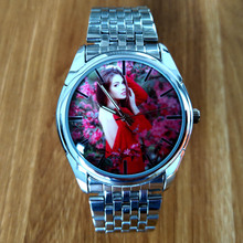 Hot sale Photo Printing Quartz Watch Custom Made Wristwatch Customized Christmas Gift Custom Made Birthday Present(China)