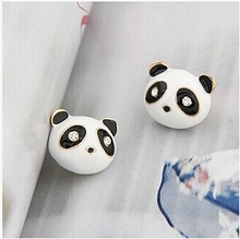 New Fashion Black White Animal Cute Panda Stud Earrings For Women Jewelry Gifts