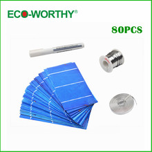 80 pcs 3x6 polycystalline solar cell ,solar cell kit, DIY solar panel for 12v battery ,free shipping