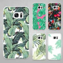 Banana Leaf Hard White Coque Shell Case Cover Phone Cases for Samsung Galaxy S4 S5 S6 S7 Edge Plus(China)
