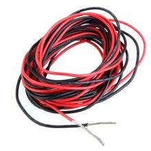 2x 3M 20 Gauge AWG Silicone Rubber Wire Cable Red Black Flexible