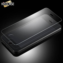KISSCASE New Arrival Tempered Glass Screen Protector For iPhone 4 4S 4G High Quality Wholesale Support Free Shipping(China)
