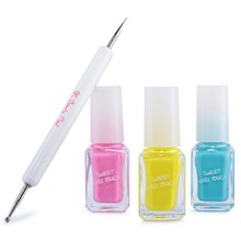 4Pcs/Lot Optional Candy Colors Matte Liquid Varnish Set DIY Sweet Nail Polish Kit With 3d Art Pen Gel Oil Tools Case 1581730