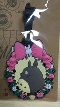 1pcs cute TOTORO PINK BOW PVC Bag Pendant Travel Name/luggage Tag Novelty toys