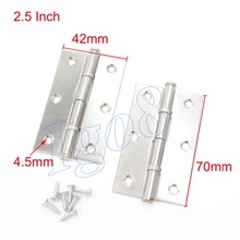 "2.5"" Cabinet Door Butt Hinges Bearing Hinge with Screws"