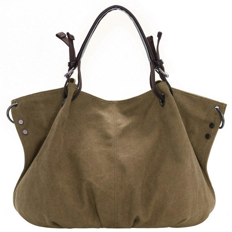 Female Retro Canvas Handbag Women Casual Large Capacity Hobo Tote Bolsa Grandes Shoulder Bag Thicken Bag Femininas Messenger Bag<br><br>Aliexpress