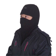 Bicycle Thermal Fleece Hat Winter Ski Full Face Mask Neck Cap Cycling Windproof Dustproof Masks Black Color
