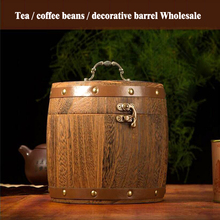 Tea Bucket Wine Barrels Cask Oak barrels Wooden Drums Bar set Hotel Restaurant Decoration Display Art Crafts Home Decoration X17(China)