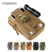 Outdoor Molle Tactical Bag For Belt Men's Sport Waist Belt Bag Wallet Pouch Hiking Climbing Phone Bag For iPhone For Samsung