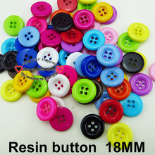 100PCS 18MM mixed RESIN button round sweater for sewing buttons clothes accessory R-260