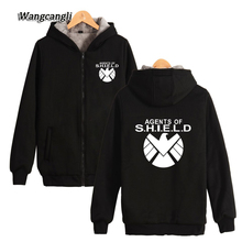 2017 Agents of S.H.I.E.L.D Shield Logo Zip Up Super Warm Printed Pattern Cotton Fleece Women/men Hoodies Sweatshirts Coats