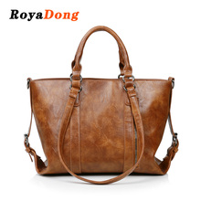RoyaDong New Winter 2017 Women Shoulder Bags Vintage Soft Leather Lady Handbags 3Style Handle Messenger Bag Tote Bag(China)
