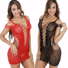 Plus Size Lingerie Hot Mesh Baby Doll Dress Erotic Langerie For Women Sex Costumes Fishnet Underwear Body Lingerie
