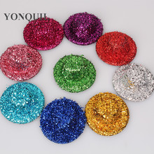 multiple color 5cm sequin mini top hats girl party headwear DIY hair accessories blingbling party hats baby hairstyle MYQH014