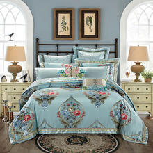 High precision Jacquard Luxury Bedding set King Queen size  4/6/9pcs Royal Wedding Bed set Duvet cover Bedspread Home Decorative