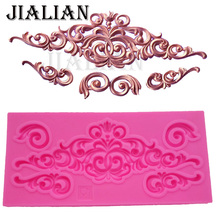 DIY lace pattern vine Border silicone mold cake decorating  chocolate sugar decoration tools for cake turning edge T0881