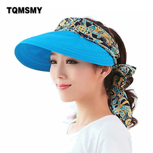 Fashion uv sun hat summer sun hats for women straw hat girls beach organza cap visors caps multipurpose foldable floppy hat(China)