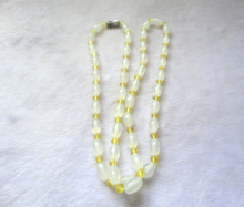 necklace+++410  Genuine natural white  necklace Brazil  bead chain opening ice pulp transport safety