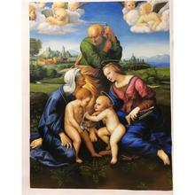 Promotion Raphael most famous work Canigiani Holy Family Madonna Angel Painting fine art Handpainted Oil on Canvas High quality(China)