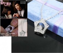 Korea TV Drama Boys Over Flower Kissing Star Necklace in gift box Free shipping(China)