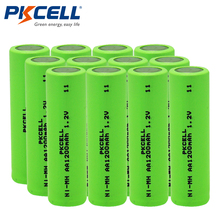 12Pcs PKCELL AA Rechargeable Batteries Ni-MH 1200mAh 1.2V NiMH Industries Battery Batteries Bateria For Flat Top(China)