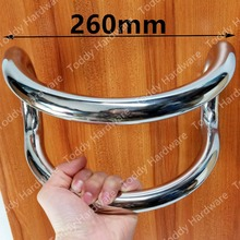 DLS-24 Semi-circular glass door handles stainless steel handle large semi-circular handle size 24cm(China)