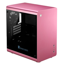 Computer case Jonsbo RM3 Pink RED The top cover has No hole version aluminum chassis USB3.0(China)
