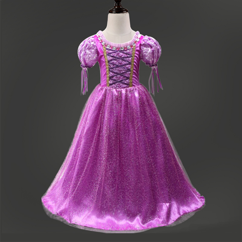 Fantasia Vestidos Girl Wedding Dress Sophia Princess Party Fancy Dress Cosplay Party Costume Inlaid Silk Christmas Kids Clothing<br><br>Aliexpress