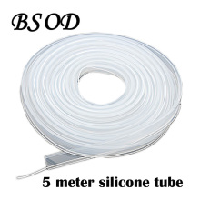 BSOD 5 Meter Silicone Tube Soft  Waterproof 12mm Width with White Line Applicable for 8mm/10mm Width LED Strip