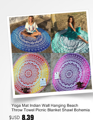 Mandala Indio Bohemio Redondo Toalla de playa Mujeres Chal Esterilla para Yoga Manta de picnic