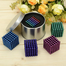 D4mm 216 pcs Neo Magic Cube Puzzle Magnetic Magnet Balls Spacer Beads Magnet Block Magico Education Jewelry Toy with metal box