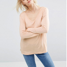 High Quality 2017 Spring Women T Shirt Solid Long Sleeve 100% Cotton Tshirt Tops Tee Shirt Femme Casual Camisetas Mujer(China)
