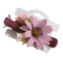 Fashionable Purple Lady Flower Hairpin Universal Decorative Headdress Hair Clip Simple Temperament Jewelry Hair Comb Accessories(China)