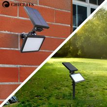 Garden Solar Lamp spotlight white wall lamp Waterproof Solar lights 48led outdoor Emergency Led Lawn Lighting Bulb Lampe Solaire(China)