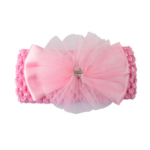 1pc Headwear Kid Girls Headband Flower Hair Bow Newborn Hair Bands New Born Hair Accessories Elastic Headwrap Hollow Wholesale