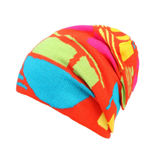 New Winter Hat Knitted Scarf & Winter Hats For Women Striped Beanies Hip-Hot Skullies Girls Gorros Women Beanies(China)
