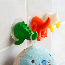 2x Animal Tail Baby Shower Cloth Towel Bathroom Suction Cup Hooks Hangers Sucker