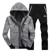 Under Armour Men Winter warm Jacket Athletic Training 험 브레와 Gym 스포츠 한 벌 3 개 Jacket + sweatshirt + Pants (High) 저 (품질(China)
