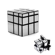OCDAY Magic Cube 3x3x3 Mirror Bump Twisty Ultra Smooth Toys New Year Gifts Stress Reliever Magic Cub Silver(China)